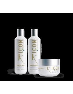ICON PACK Organic CBD Champú + Acondicionador + Tratamiento