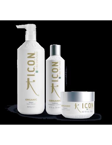 ICON PACK Organic CBD Champú 1L. + Acondicionador + Tratamiento