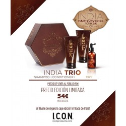 ICON PACK India Trio: Champú, Acondicionador y Dry