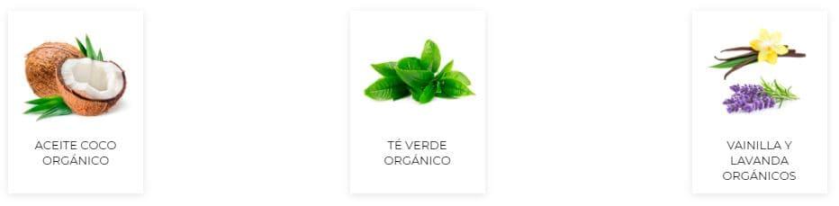 Ingredientes Acondicionador Organics