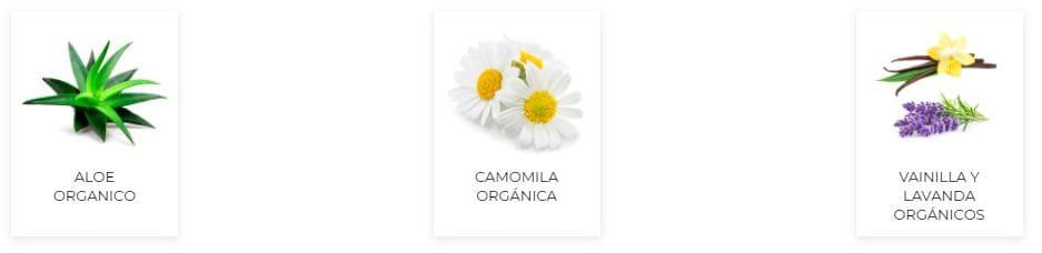 Ingredientes Organics